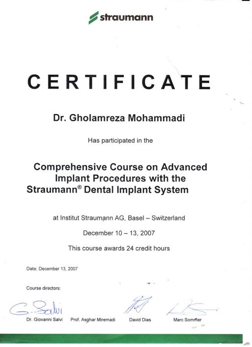 مدارک دکتر غلامرضا محمدی  دکتر غلامرضا محمدی 4 513x705